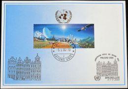 UNO GENF 2000 Mi-Nr. 309 Blaue Karte - Blue Card - Briefe U. Dokumente