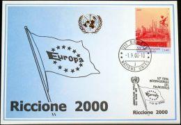 UNO GENF 2000 Mi-Nr. 313 Blaue Karte - Blue Card - Briefe U. Dokumente