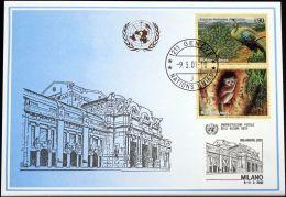 UNO GENF 2001 Mi-Nr. 319 Blaue Karte - Blue Card - Briefe U. Dokumente