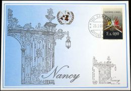 UNO GENF 2001 Mi-Nr. 320 Blaue Karte - Blue Card - Briefe U. Dokumente