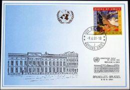 UNO GENF 2001 Mi-Nr. 321 Blaue Karte - Blue Card - Briefe U. Dokumente