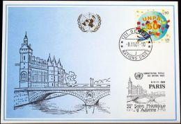UNO GENF 2001 Mi-Nr. 325 Blaue Karte - Blue Card - Briefe U. Dokumente