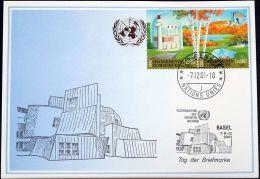 UNO GENF 2001 Mi-Nr. 327 Blaue Karte - Blue Card - Briefe U. Dokumente