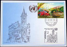UNO GENF 2002 Mi-Nr. 330 Blaue Karte - Blue Card - Briefe U. Dokumente