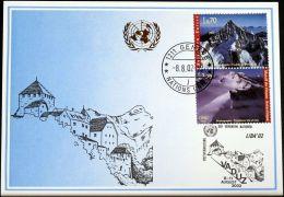 UNO GENF 2002 Mi-Nr. 331 Blaue Karte - Blue Card - Briefe U. Dokumente