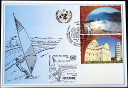 UNO GENF 2002 Mi-Nr. 332 Blaue Karte - Blue Card - Briefe U. Dokumente