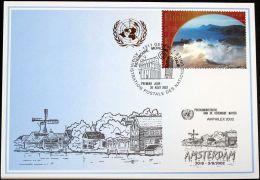 UNO GENF 2002 Mi-Nr. 333 Blaue Karte - Blue Card - Briefe U. Dokumente