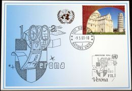 UNO GENF 2003 Mi-Nr. 340 Blaue Karte - Blue Card - Briefe U. Dokumente