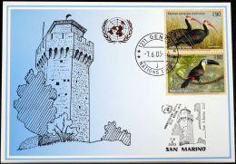 UNO GENF 2003 Mi-Nr. 341 Blaue Karte - Blue Card - Briefe U. Dokumente