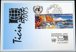 UNO GENF 2003 Mi-Nr. 342 Blaue Karte - Blue Card - Briefe U. Dokumente