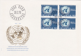 Organisation Des Nations Unies - FDC Du 26.2.1970 - FDC