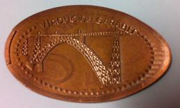 15 RUYNES VIADUC DE GARABIT N°2 MÉDAILLE ÉCRASÉE JETON TOKEN MEDALS COINS MONNAIE 5 CENTS - Elongated Coins