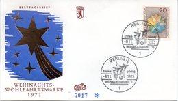 """Westberlin Schmuck-FDC Mi. 463 """"Weihnachen 1973"""" ESSt 9.11.73 BERLIN 12 - FDC: Briefe"""