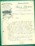 16 La Couronne Cothiers Papeterie De Cothiers Lucien Lacroix Papiers à Cigarettes - Cahiers 25 04 1907 - Frankreich