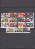 Nicaragua 07.04.1980 Mi # 2091а-98а, 2091b-97b Moscow Summer Olympics, RED & SILVER OVPT MNH OG - Verano 1980: Moscu
