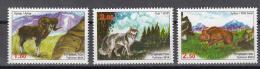Tadschikistan 2014 MNH** Mi.Nr. 663-665 A Fauna Of Tadjikistan - Tajikistan