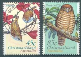 CHRISTMAS - USED/OBLIT.- 1996 - BIRDS OWL WHITE EYE - Yv 432-433 - Lot 17372 - Christmas Island