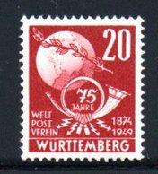 Wurttemberg  / N 48 / 30 + 15 Pf Bleu / NEUF ** - Wurtemberg