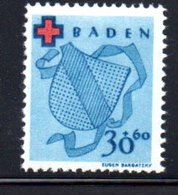 Baden  / N 41 / 30 + 60 Pf  Bleu / NEUF Avec Trace De Charnière - Baden