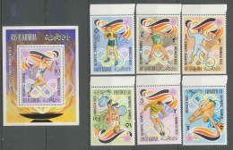 191a Ras Al Khaima  MNH ** Mi N° 649 / 654 A Bloc 119 A Jeux Olympiques (olympic Games) MUNICH 72 Football (Soccer) - Sommer 1972: München