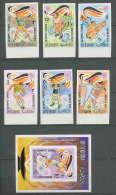 192a Ras Al Khaima MNH ** Mi N° 649 / 654 B Bloc 116 Non Dentelé (imperforate) Jeux Olympiques (olympic Games) MUNICH 72 - Sommer 1972: München