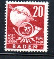 Baden  / N 56 / 20 Pf  Rouge / NEUF** - Baden