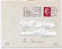 Ar1927 Secap 2284b Floralies Internationales Paris 10 05/05/1969 / Lettre - Sellados Mecánicos (Publicitario)
