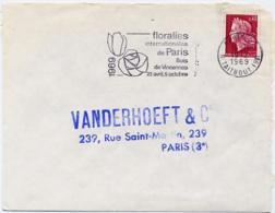 Ar1931 Secap 2284e Floralies Internationales Paris 22 19/02/1969 / Lettre - Sellados Mecánicos (Publicitario)