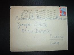DEVANT TP M. A LA NEF 0,25 OBL.MEC. CONVOYEUR 9-8 1960 LE CROISIC A NANTES (44 LOIRE-ATLANTIQUE) - Railway Post