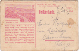 Feldposkarte - 1914 / Niederlahnstein / 8e Colonial 1er C. Toulon - War 1914-18