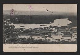 PANAMA CANAL POSTCARD COLON POSTMARK FLAG 1907 - Panama