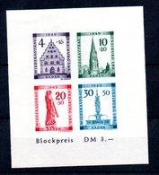 Baden  / Bloc N 2 B / NEUF Avec Trace De Charnière - Baden