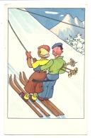 ** Humour  ***  Sports D'hiver Illustrateur Excellent état Unused/neuve - Sport Invernali