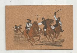 Cp , En Liége ,Italie , COSTUMI SARDI , Ed. Vulpes , Vierge , Folklore ,illustrateur , Chevaux , Cavaliers - Cartes Postales