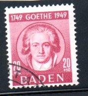 Baden  /  N 49  / 20 + 10 Pf Rouge /  Oblitéré - Baden