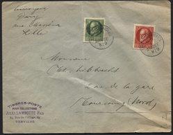 BAYERN Briefmarken Auf FELDPOST Brief LILLE Frankreich Nach Tourcoing France. Falten (*9) - Besetzungen 1914-18