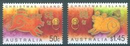 CHRISTMAS - MNH/** - 2007 - YEAR OF THE PIG - Yv 589-590 - Lot 17377 - Christmas Island