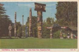 Canada  - Victoria, B. C.  Indian Totem Poles  : Achat Immédiat - Alberta