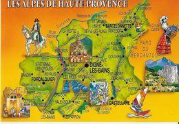 CARTE DEPARTEMENT 04 ALPES DE HAUTE-PROVENCE  EDIT. PHOTOGUY - France