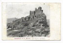 REPUBBLICA DI S.MARINO - LA ROCCA E LA RUPE 1913 VIAGGIATA FP - Saint-Marin