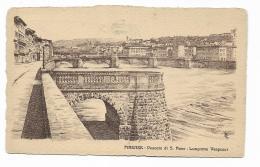 FIRENZE - PESCAIA DI S.ROSA - LUNGARNO VESPUCCI DA DISEGNO SIGLATA - VIAGGIATA FP - Firenze
