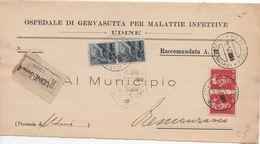 Piego Ospedaliero Viaggiato 11/1945 Udine -> Remanzacco - Storia Postale