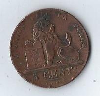 Monnaie Belgique 5 Centimes 1833 - 1831-1865: Léopold I