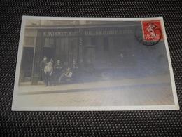Paris  Parijs  Fotokaart  Carte Photo E. Wihmet Entr. De Serrurerie ( Rue Amelie 13 ? ) - Petits Métiers à Paris