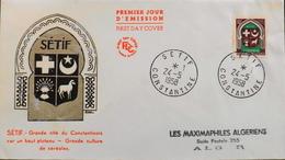 Enveloppe 1er Jour ALGERIE 1958 - Sétif - Affr. N° 337E Y & T - Costantine Daté Le 24.5.1958 -TBE - FDC