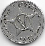*cuba 5 Centavos 1961  Km 11.3 - Cuba