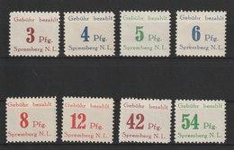 Deutsche Lokalausgaben Ab 1945 / Spremberg: Freimarken /  MiNr.: 7A-14A - Deutschland