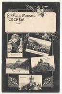 Gruss Von Der Mosel - COCHEM - Victor Ullmann 1025 - 1907 - Cochem