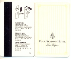 Four Seasons Hotel, Las Vegas,  Tarjeta Magnética Llave De Hotel, Usada, Fourseasons-1 - France