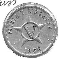 *cuba 5 Centavos 1966  Km 34 Vf+ - Cuba